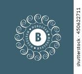 monogram vector in frame | Shutterstock .eps vector #450622711