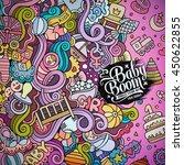 cartoon cute doodles hand drawn ... | Shutterstock .eps vector #450622855