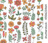 vector pattern with flowers... | Shutterstock .eps vector #450623464