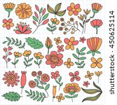 vector pattern with flowers... | Shutterstock .eps vector #450625114