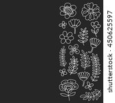 vector pattern with flowers...   Shutterstock .eps vector #450625597