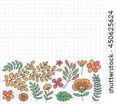 vector pattern with flowers... | Shutterstock .eps vector #450625624