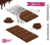 realistic chocolate bar wrapped ... | Shutterstock .eps vector #450634414