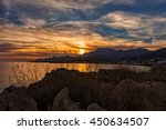 image of dramatic rocky sunset... | Shutterstock . vector #450634507