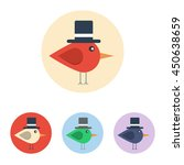 vector set of icons with bird... | Shutterstock .eps vector #450638659