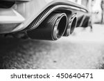 double exhaust pipes of a... | Shutterstock . vector #450640471