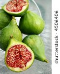 display of figs on glass table | Shutterstock . vector #4506406