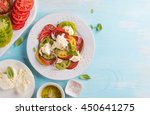 salad with colorful tomatoes ...