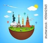 world landmarks concept. vector ... | Shutterstock .eps vector #450642565