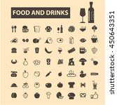 food and drinks icons | Shutterstock .eps vector #450643351