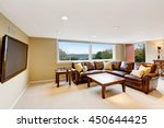 large beige living room with... | Shutterstock . vector #450644425