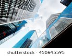 skyscrapers shot with... | Shutterstock . vector #450645595