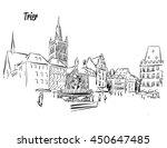 trier market square outline... | Shutterstock .eps vector #450647485