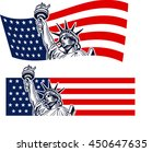 statue of liberty  usa map  ... | Shutterstock .eps vector #450647635