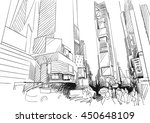 time square  new york city.... | Shutterstock .eps vector #450648109