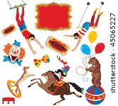 circus acts clip art party...   Shutterstock . vector #45065227
