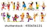 set of illustrations of... | Shutterstock .eps vector #450656131