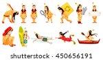 set of illustrations of... | Shutterstock .eps vector #450656191