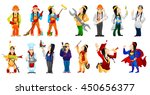 set of illustrations of... | Shutterstock .eps vector #450656377