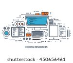 programming coding background... | Shutterstock .eps vector #450656461