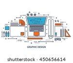 graphic web design illustration.... | Shutterstock .eps vector #450656614