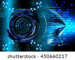 dark blue cyber light abstract... | Shutterstock . vector #450660217