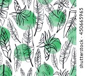 tropical seamless pattern with... | Shutterstock .eps vector #450665965
