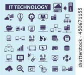it technology icons | Shutterstock .eps vector #450671155