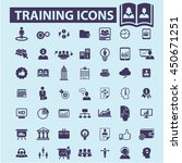 training icons | Shutterstock .eps vector #450671251