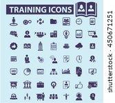 training icons | Shutterstock .eps vector #450671251