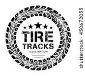 tire tracks. vector... | Shutterstock .eps vector #450672055