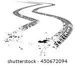 tire tracks. vector... | Shutterstock .eps vector #450672094