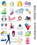 house vector icons for web.... | Shutterstock .eps vector #45067348