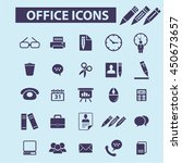 office icons | Shutterstock .eps vector #450673657