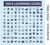 learning icons | Shutterstock .eps vector #450673861