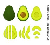 cooking with avocados vector... | Shutterstock .eps vector #450673891