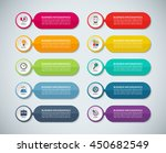 templates for infographics. set ... | Shutterstock .eps vector #450682549