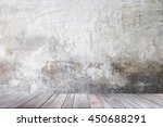 empty brown wooden table and... | Shutterstock . vector #450688291