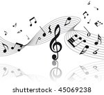 vector musical notes staff... | Shutterstock .eps vector #45069238