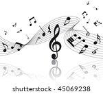 vector musical notes staff...   Shutterstock .eps vector #45069238