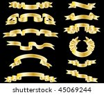 set of different vector ribbons ... | Shutterstock .eps vector #45069244