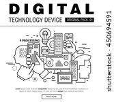modern digital technology pack. ... | Shutterstock .eps vector #450694591