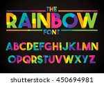 Vector of stylized colorful font and alphabet | Shutterstock vector #450694981