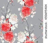imprints sakura and... | Shutterstock . vector #450695404