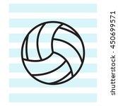 volleyball ball | Shutterstock .eps vector #450699571