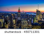 new york city skyline with... | Shutterstock . vector #450711301