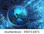 global communication network ... | Shutterstock . vector #450711871