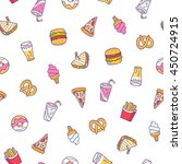 fast food illustrations vector... | Shutterstock .eps vector #450724915