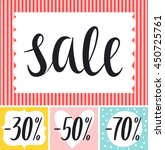 shopping sale tags design ... | Shutterstock .eps vector #450725761