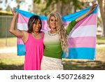 trans gender girls holding... | Shutterstock . vector #450726829